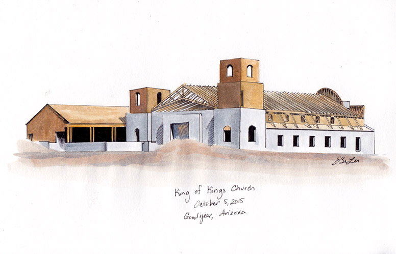 King of Kings church commission watercolor