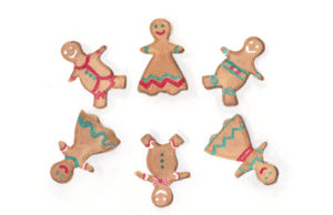 6 Gingerbread People - the Sixth Day of Christmas watercolor by artist Esther BeLer Wodrich
