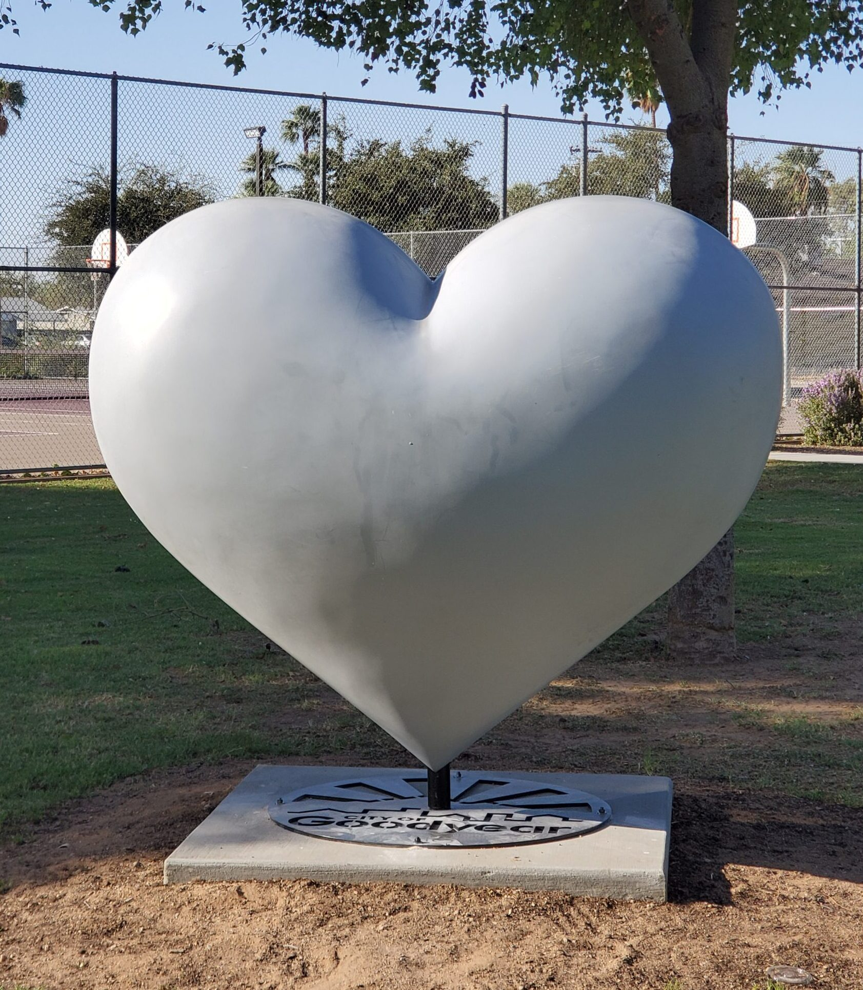 Blank heart for HeART of GOodyear